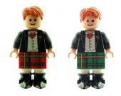 2 x Scottish Grooms - Best Man in Kilts (Green & Red) - Custom Designed Minifigures